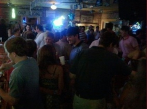 A Crowd at The Blue Biscuit