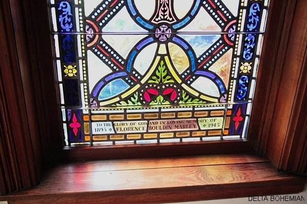 Stained glass window at St. Georges Episcopal Church in Clarksdale