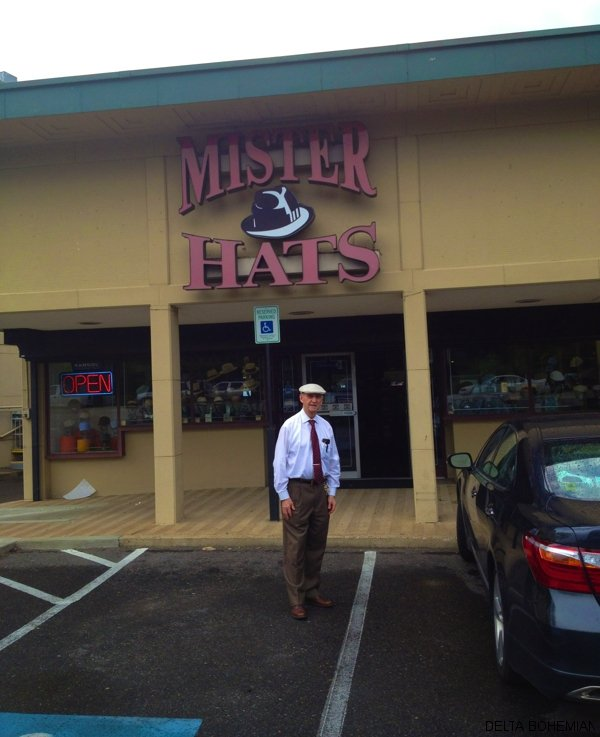Mr. Alvin Lansky in front of his store in Memphis.