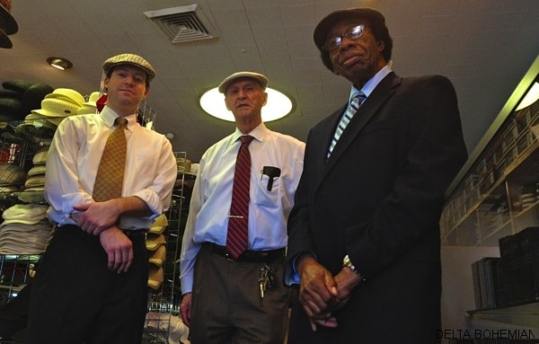 Blake H. Viar, owner Alvin Lansky and Hardy Phillips - the men of Mister Hats.