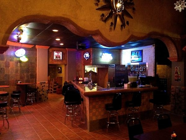 The bar and lounge at Guadalajara Restaurant in Clarksdale