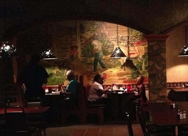 Beautiful murals are painted on the walls at Guadalajara Restaurant in Clarksdale