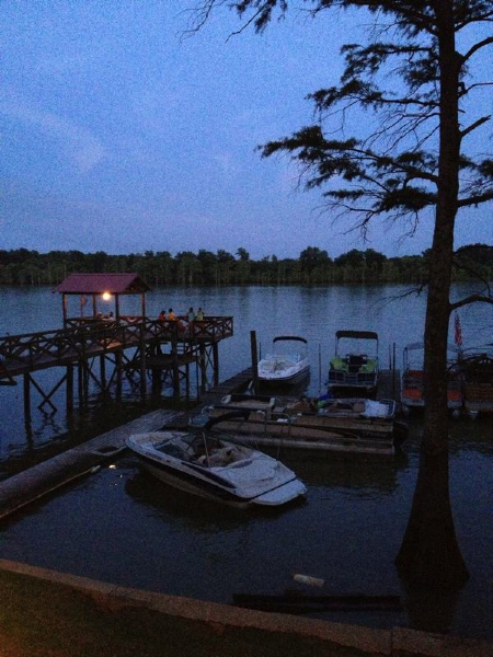 Evening at a party on Moon Lake