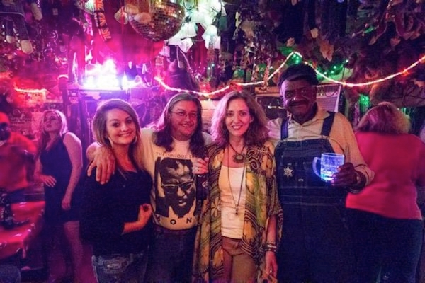 Photo by Eric Stone. Bethany, Billy Howell, Madge Marley Howell, Willie Seaberry at Po Monkey's
