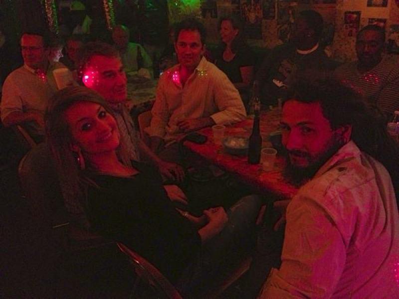 Friends at Po Monkey's. Bethany Howell, Eric Stone, Marcos Chiappe, Luke Stabb