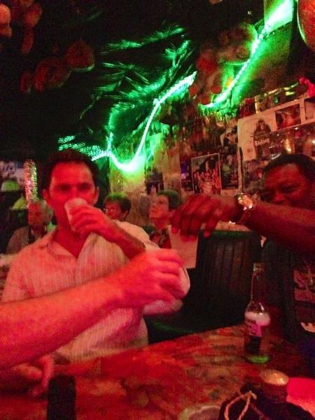 A crowd celebrating life at Po Monkey's Juke Joint