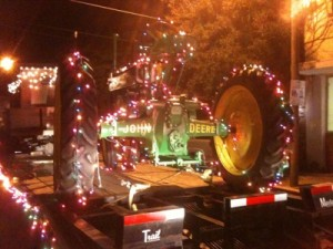 John Deere Christmas Tractor in the Clarksdale Mississippi Delta Christmas Parade. by The Delta Bohemian