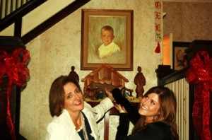Delta Bohemians Madge and Corinne pointing to The Golden Child (aka Poor William) Photo by DB