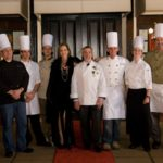 The Chefs of French Night Madidi with GM Madge Marley Howell and Chevalier Master French Chef Philippe Boulot