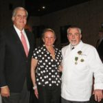 Co-owner of Madidi Restaurant and Candidate of Governor of Mississippi Bill Luckett, wife Francine, and Chevalier Master French Chef Philippe Boulot. Photography by Langdon Clay