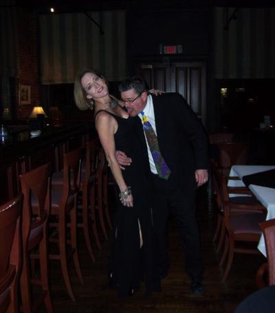 Madge & Billy cuttin' up at Madidi Restaurant