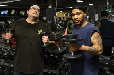 Poor William Billy Howell and Devail Anderson at Snap Fitness in Clarksdale, MS