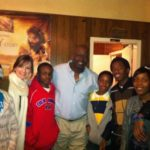 Some middle school kids with Marcus Dupree and Teach For America Corps Member Courtney Van Cleve