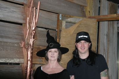 Peggy and Joey on Halloween Night outside Rust Restaurant in Clarksdale, MS.