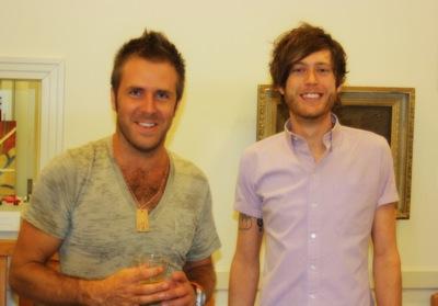 Artists Bradley Gordon and Austin Britt. Photo by DB