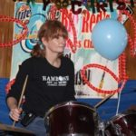Drummer Dixie Street playing at Red's during Carol's party. Photo by The Delta Bohemian