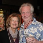 Artist Barbara Baine and Gary Vincent. Photo by DB