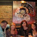 Artist Chuck Lamb, Leah Lamb, Rosemary Dill and Adrian Rose Dill. Photo by DB