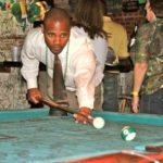 Sheriff Charles Jones displays his skills on the cloth during the Fundraiser for the Jonestown Family Center at GZBC. Photo by The Delta Bohemian
