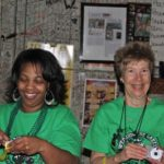 Volunteer and the evening's Hostess, Sister Teresa Shields of the Jonestown Family Center. Photo by The Delta Bohemian
