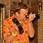 Semi-Fixture Ed Genesky getting into the music at GZBC. Photo by The Delta Bohemian