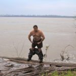 Poor William flexing on the Mississippi River. Photo by The Delta Bohemian