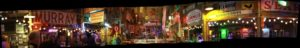 Panoramic image of the Juke Joint Chapel at the Shack Up Inn in Clarksdale, MS. Photo by The Delta Bohemian