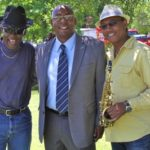 """Bill """"Howl-N-Madd"""" Perry, BB King Blues Museum Executive Director Dion Brown, Alphonso Sanders at Delta Council. Photo by The Delta Bohemian"""