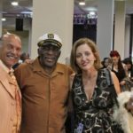 Paul E. Benjamen, President of North Atlantic Blues Records, BMA Award Winner Eddie Shaw, Magical Madge at Blues Music Awards. Photo by The Delta Bohemian