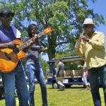 Bill Howl-N-Madd Perry and Alphonso Sanders entertaining the crowd at Delta Council. Photo by The Delta Bohemian