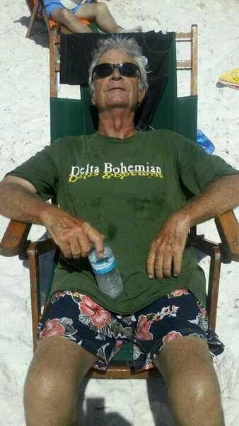 Delta Bohemian David A. Elliott III relaxing on a beach. This is David's Profile Pic on Facebook. Way cool, David.