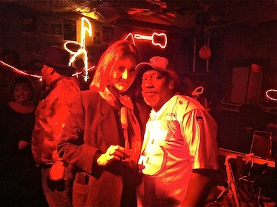 Magical Madge Marley Howell and Dingo at Red's Blues Club in Clarksdale. Photo by The Delta Bohemian