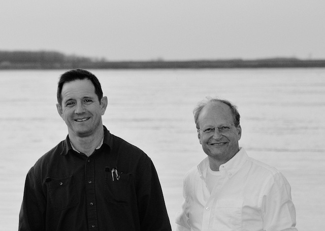 Mr. Lil John McKee and Bill Manning by the Mississippi River in the Delta. Photo by The Delta Bohemian