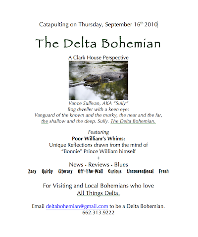 Announcement of launch of The Delta Bohemian was presented to guests at Madidi Restaurant Food and Wine Tasting August 2010 when Levi Minyard was the Executive Chef.