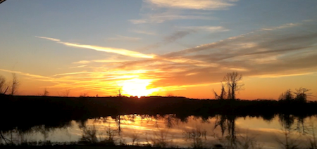 A Mississippi Delta Sunset. Photo by The Delta Bohemian