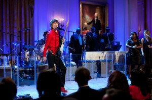 Mick Jagger performing at the White House. Official White House Photo by Chuck Kennedy