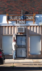 Blues Town Inn in Clarksdale. Photo and signage by Delta Debris.