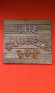 Sign on The Squeeze Box in downtown Clarksdale. Photo and signage by Delta Debris.