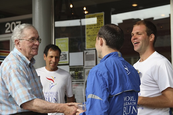 World Harmony Run 2012 Torch Carriers visit Clarksdale and John Ruskey at Quapaw Canoe Company during 25th Anniversary 10,000 Mile USA Run