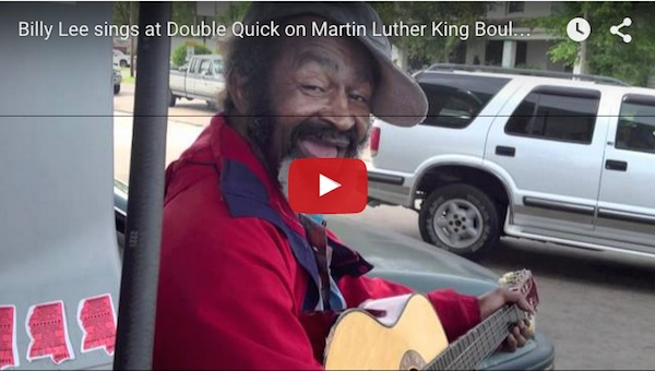 "Billy Lee sings ""You So Fine"" at double quick on Martin Luther King Boulevard in Clarksdale – the Heart of the Mississippi Delta"