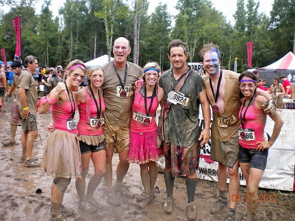 Warriors of the Dash. Lesley Speck Johnson, Kate Dunn, Tom Ross, Abby Diddle Flowers, Rev. Jason Shelby, Rachel Trimm-Scarbrough at Warrior Dash 2012 in Jackson, MS.
