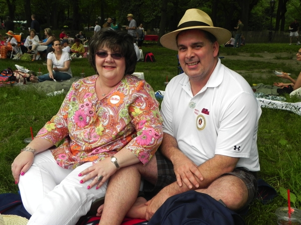 Ginger Johnson and John Sherman from Clarksdale at Mississippi Picnic in Central Park. PHOTO BY GUEST BOHEMIAN EB BLAKNEY