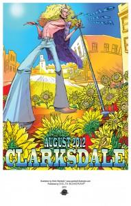 Sunflower Plant Enjoying a Music Festival in Clarksdale, MS