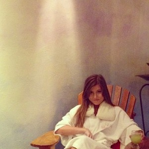 Corinne Vance enjoying some down time in a Puerto Vallarta, Mexico spa. Photo credit: DELTA BOHEMIAN