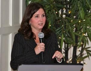 Jen Waller, CCHEC Director speaking at the Cutrer Mansion. Photo credit: DELTA BOHEMIAN