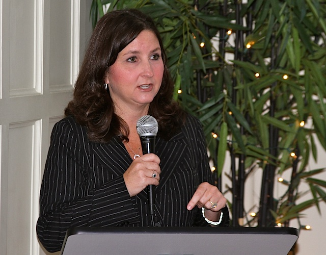 Jen Waller, CCHEC Director speaking at the Cutrer Mansion. Photo credit: DELTA BOHEMIAN