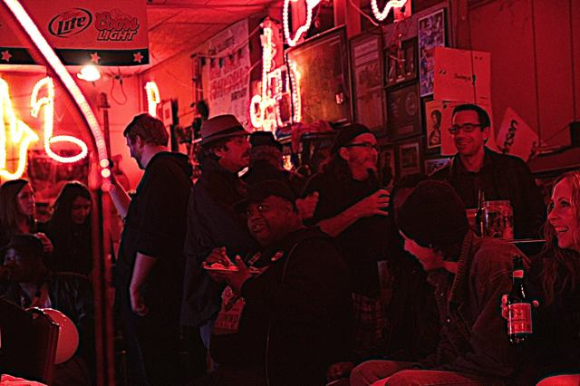 A crowd scene at Red's Blues Club in Clarksdale. Photo by Delta Bohemian