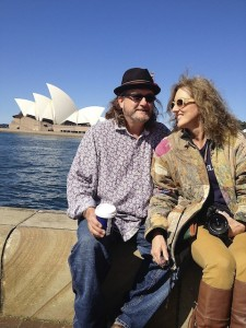 Billy Poor William Howell, Magical Madge Marley Howell and the Sydney Opera House. Photo by DELTA BOHEMIAN