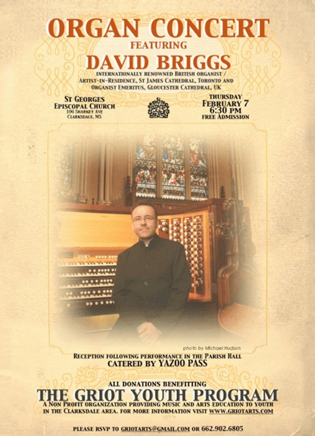 An Organ Concert in Clarksdale – Come hear an organ sing!