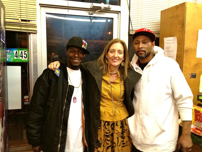 "Carl ""Carleon"" Fields, ""Magical ""Madge Marley Howell, Henry ""Mr. Garfield"" Smith at Corner Grocery"